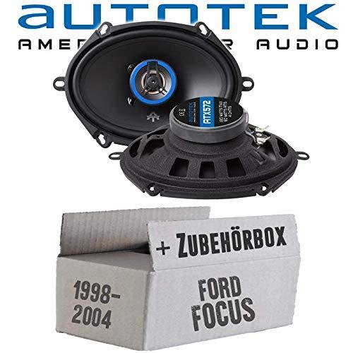 Lautsprecher Boxen Autotek ATX-572 | 2-Wege oval 13x18cm Koax Lautsprecher 5\'x7\' Auto Einbauzubehör - Einbauset für Ford Focus 1 Front Heck - JUST SOUND best choice for caraudio