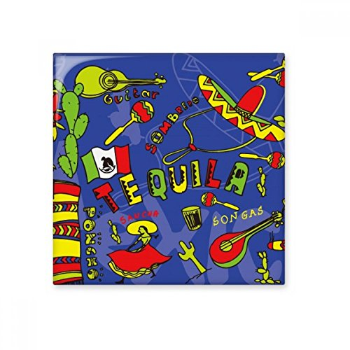 Tequila sombrero guitarra Chili México cultura Elment cerámica crema decoración de decoración de azulejos para baño cocina azulejos de pared azulejos de cerámica