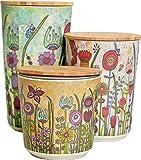 Diese wunderschönen Aufbewahrungsbehälter aus nachhaltigem Rohstoff, sorgen durch das farbenfrohe Rollin'Art Design in Küche und Bad für gute Laune und Fröhlichkeit. Individuelle runde Aufbewahrungsboxen mit exklusivem Design von der Künstlerin Tina ...