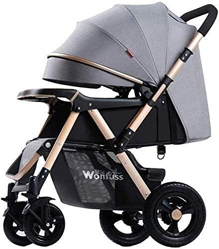 HTZ YQL Baby Strollers - Pushchair Lightweight for Holiday - Folding - Two Way Compact Travel Baby Buggies/Prams - Raincover/Windproof Warm Foot Cover/Five-Point Harness (Color : D) (Color : A)