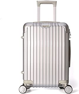 GLJJQMY Trolley Universal Wheel Trolley Luggage Suitcase Waterproof Zipper Password Lock Luggage Trolley case (Color : Silver, Size : 24 inches)