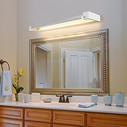 Ralbay Mirror Light 17.7 Inches LED Bathroom Vanity Light 12 W White Acrylic Rectangle Tube Warm White 2700~3200K