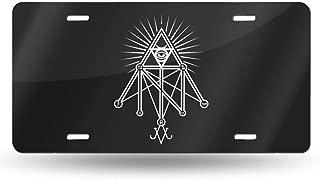 Illuminati Occult Geometric Satanic Personalized Custom Novelty Sign Tag Aluminum License Plate 6