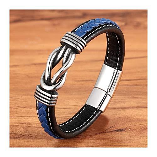Clásico Pulseras de cadena de cadenas de acero inoxidable de los hombres y brazalete de la pulsera de la muñequera de los hombres de los hombres Pulsera negra de silicona negra para hombres Novio Espo