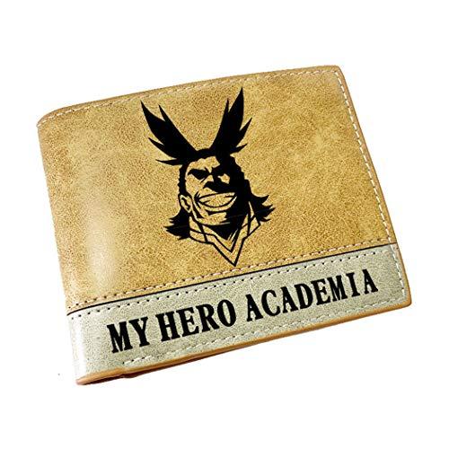 WANHONGYUE My Hero Academia Anime Billetera de Cuero Artificial Cartera Corta Portatarjetas para Hombre / 9