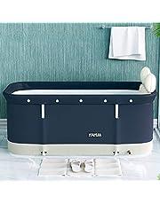 shenruifa Mobiele badkuip, opvouwbare badkuip, volwassenen, draagbaar, robuust en antislip, badbad, badtub met opzetstuk voor familie kinderen, 120 x 55 x 50 cm