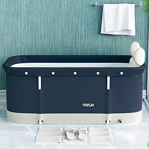 shenruifa Vasca da bagno portatile pieghevole per adulti, vasca da bagno portatile robusta e antiscivolo, con inserto per vasca da bagno per la famiglia dei bambini, 120 x 55 x 50 cm