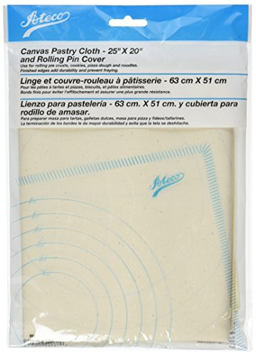 Ateco Canvas Pastry Cloth and Rolling Pin Cover, 25' x 20'