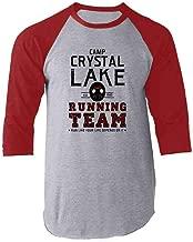 Pop Threads Camp Crystal Lake Running Team Horror Costume Raglan Baseball Tee Shirt