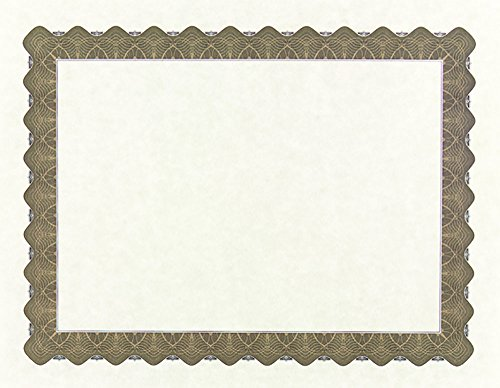 Great Papers! Metallic Gold Border Certificate, 8.5'x 11', 100 Count (934000)