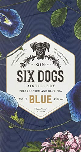 Six Dogs Gin Blue [Perlagonium and Pea] (1 x 0.7 l) - 4
