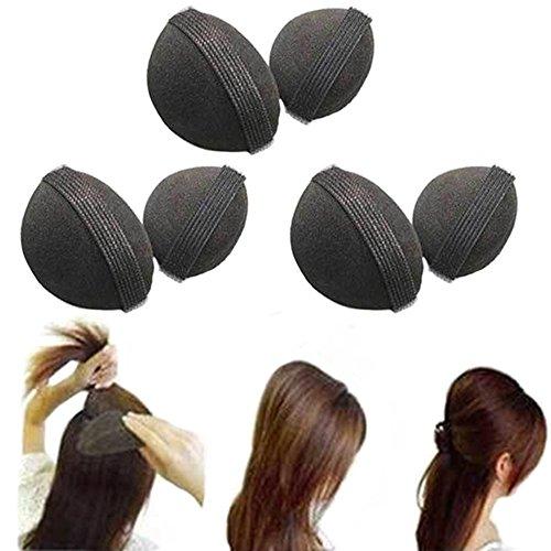 2pezzi/1paio spugna Bump It Up Volume Capelli Base Styling inserto utensili, accessori per capelli, colore: nero