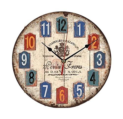 Relojes de pared en la sala de estar y oficina en 30 cm estilo europeo retro reloj de pared reloj de pared Reloj de la pared Restaurante Restaurante Bedroom Shop Clock Personalidad Creativa Reloj deco