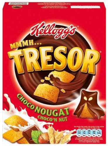Kellogg's Tresor Choco Nougat, 2er Pack (2 x 375 g)
