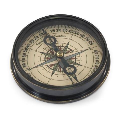 Art Deco Home - Kompass Retro, Messing, 8 cm - 77506SG