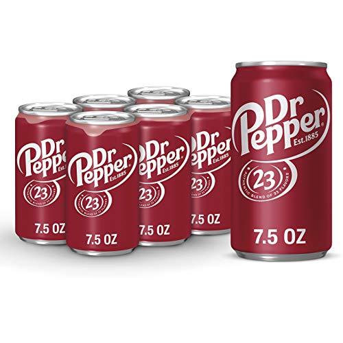 Dr Pepper Soda, 7.5 Fl Oz Can (pack of 6)