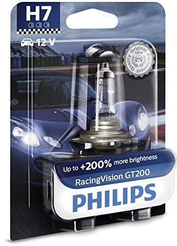 Philips RacingVision GT200 H7 bombilla faros delanteros +200%, blister individual