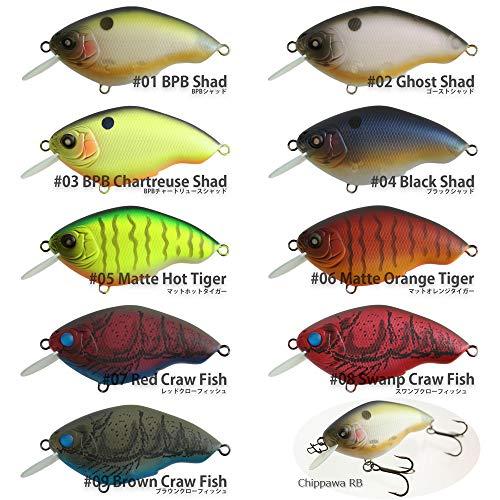 ニシネルアーワークス チッパワ RB サイレントモデル NishineLureWorks Chippawa 8 Swamp Craw Fish 62mm