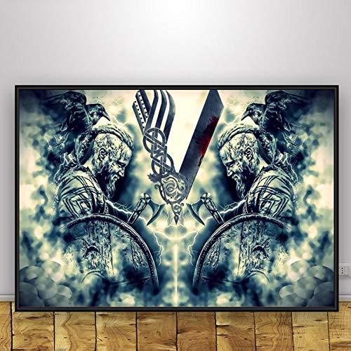 keletop 1000pcs_Wooden Adult Puzzle_Viking Painting_Children's Puzzle Game descompression Puzzle, 50x75cm