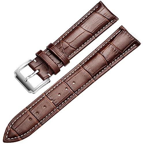 LLKHFA Correa de Reloj de Cuero Genuino de la Banda Suave de la Correa de Reloj de Cuero 18 mm 20 mm 22 mm de 24 mm de Reloj de Reloj para Tissot Seiko Accesories Pulsera