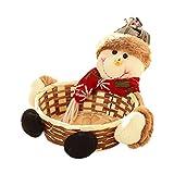 Christmas Storage Basket,Charming Christmas Candy Storage Basket Decoration Santa Claus Storage Basket Gift (Multicolor -A)