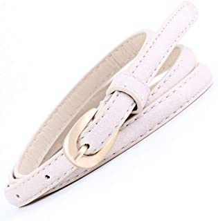 SGJFZD Fashionable Decorative Thin Belts Women's Belts Wild Decorative Small Pin Buckle Belts (Color : Beige, Size : 103 * 1cm)