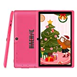 Haehne 7 inch Tablet, Android 9.0 Pie, Quad Core Processor, 1G RAM 16GB Storage, IPS HD Display, Dual Camera, WiFi Only, Bluetooth, Pink