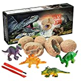 Dinosaur Toys, Dino Egg Dig Kit Kids Gifts - Break Open 12 Unique Dinosaur Eggs and Discover 12 Cute...