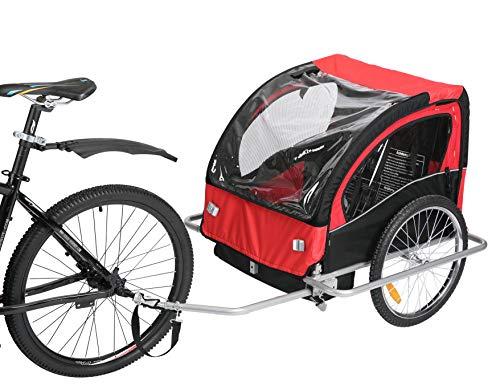 Fiximaster Fahrradanhänger für 2 Kleinkinder 502 Neu rot/schwarz
