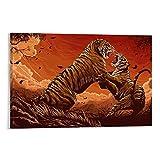 SHJKL Cuadro decorativo para pared, diseño de tigre de Bengala, 50 x 75 cm