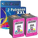 platinumserie 2x tinta refabricado para HP 302XL Color con indicador de llenado y 50% más de capacidad. Para Envy e-All-in-One 45204524Deskjet 111021303630Officejet 3800Series 38304650