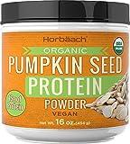 Pumpkin Seed Protein Powder Organic | 16 oz | Vegan, Vegetarian, Gluten Free, and Non-GMO Formula | Keto and Paleo Supplement | 15g of Protein | by Horbaach