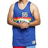 Mitchell & Ness NBA - Camiseta de tirantes reversible de malla NBA azul L