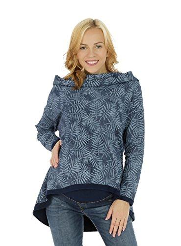 Nitis Umstandsmode Damesshirt met lange mouwen, losse mode, herfst, capuchon, effen, casual sweatshirt