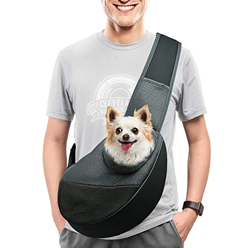 AOFOOK pet Dog Sling Carriers for Small Dogs Small Dog Bag Carrier Purse Backpack Dog Holder for...
