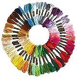 Cleana Arts Matassine Punto Croce, 50 Colori Ricamo Morbidi Filo da Ricamo Poliestere Punto Croce Kit