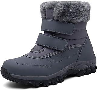 Botas de Nieve Hombre Mujer Invierno Botines cálidos Impermeable Antideslizante Senderismo al Aire Libre Trekking Zapatos