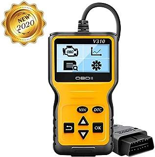 totobay OBD2 Coche Diagnóstico Escáner, OBD2 Automático Lector de Código de Vehículos con Standardem de 16 Pin Interfaz con Lectura y Borrado de Códigos Error Diagnosis Coche Multimarca Desde 2000