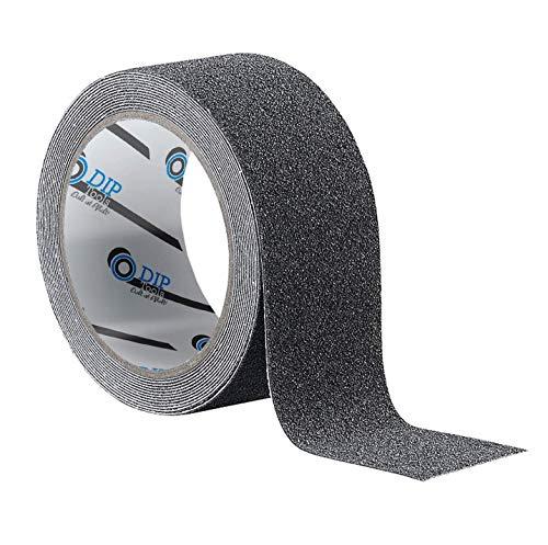 Antirutsch Streifen schwarz (50mmx10m) mit extrem hoher Klebekraft & Widerstandsfähigkeit - rutschhemmendes Klebeband für Treppe Dusche Leiter Stufen & Bodenbeläge aller Art
