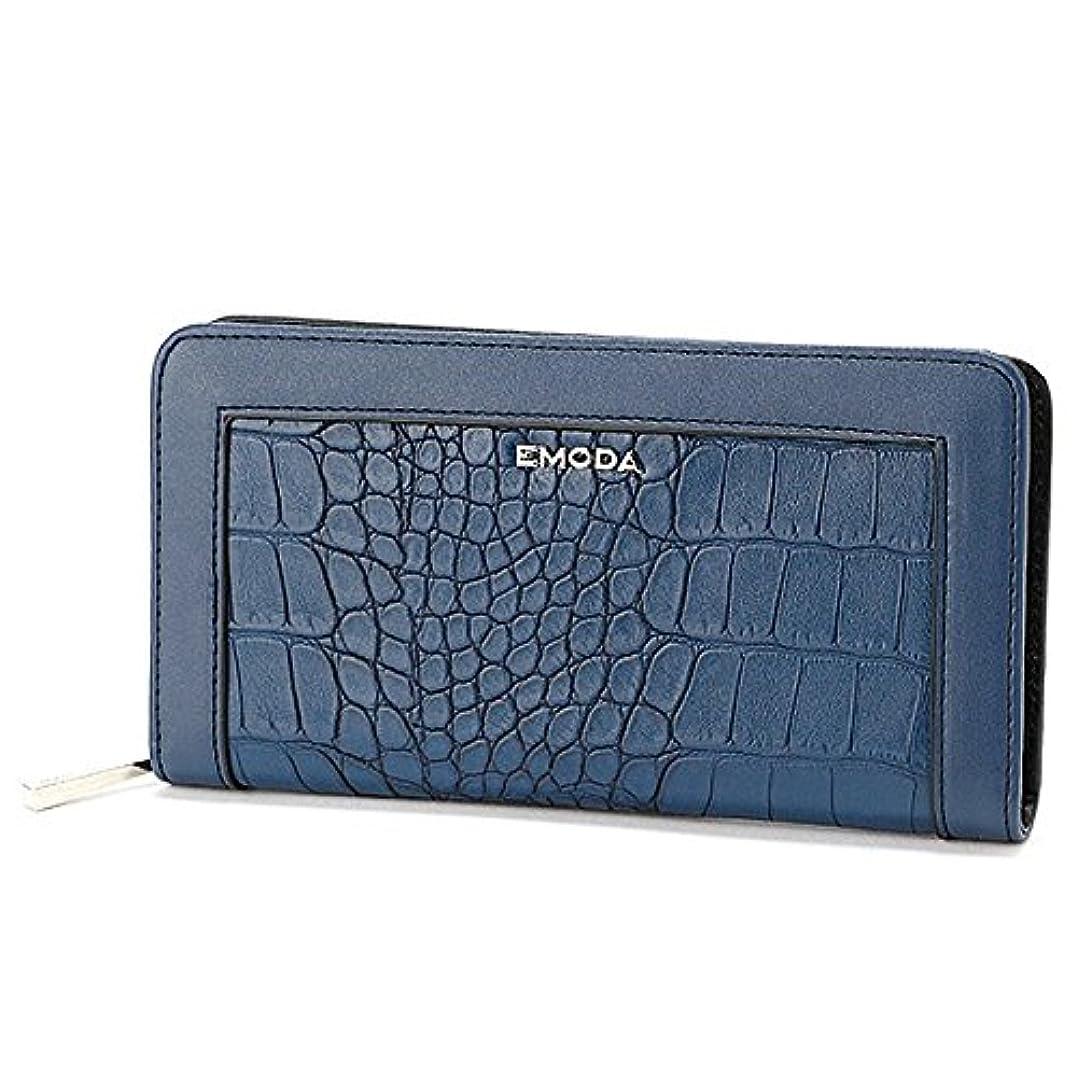 先例無力確執エモダ(EMODA) クロコ型押しラウンドファスナー財布