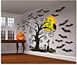 Amscan Halloween 2 Count Cemetery Scene Setters 65'' x 32'' Paper & Plastic Decorating Kit