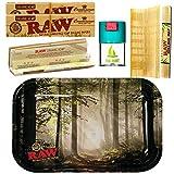 Kit para fumar Raw bandeja para liar Bosque 27,5cm x 17,5cm + RAW Organic Kings...