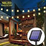 Solar Lichterkette aussen, 50LED 23ft 8 Modi Solar Kristall Kugeln wasserdicht Außer/Innen Lichter Beleuchtung für Garten, Bäume, Terrasse,...