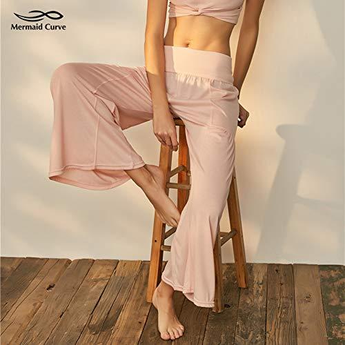 NSYJK Yoga broek Curve Nieuwe Patchwork Hoge Taille Elastische Flared Yoga Broek Brede Been Dans Oefening Losse Dansende Yoga Pant Streetwear