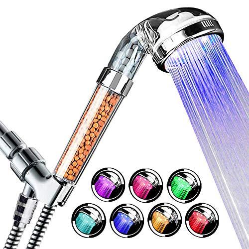 Soffione doccia a LED ad alta pressione con 7 cambi di colore