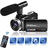 Camcorder Video Camera 1080P 30FPS Camcorder Camera 18X Digital Zoom Camcorder with Microphone