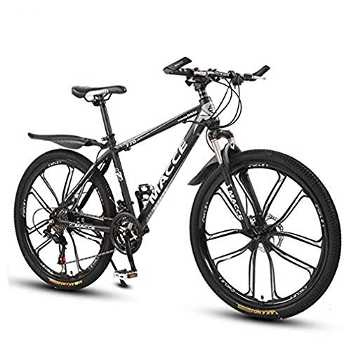 B-D Mens Mountain Bike 26 Inch, 21-Speed Mountain Bike Adult Bicycle Dual Disc Brakes High Carbon Steel Outroad Bicycle,Black