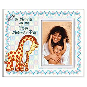 "Gifts for Mom from Baby to Mommy on Our First Mother's Day Picture Frame | 1st Mothers Day Picture Frame Gift | Holds 3.5"" x 5"" Photo 