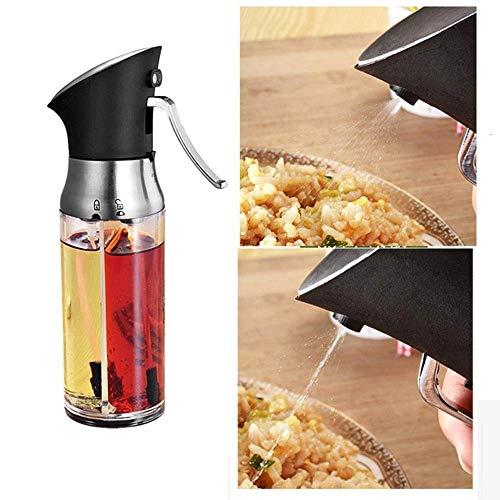 Oliefles 200ml2 in 1 Olijfolie Dispenser Fles Pot Container van de olie-opslag Fles Azijn Spuitbus Spice Oliebusje Sauce Keuken Koken Gereedschap lili