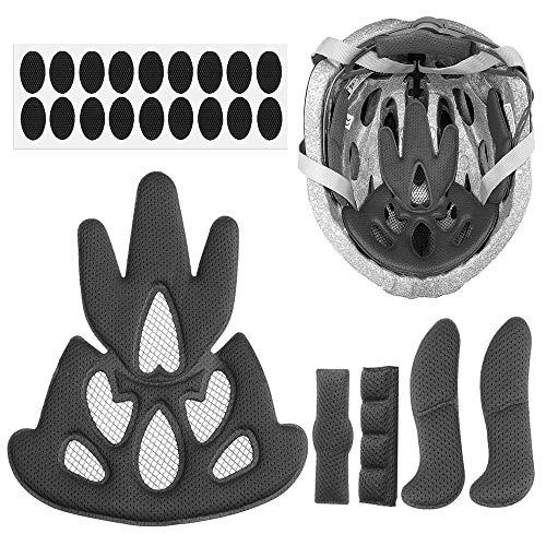 N\A Kit de acolchado de casco de bicicleta almohadilla universal de espuma para bicicleta motocicleta ciclismo casco EVA almohadillas para bicicleta